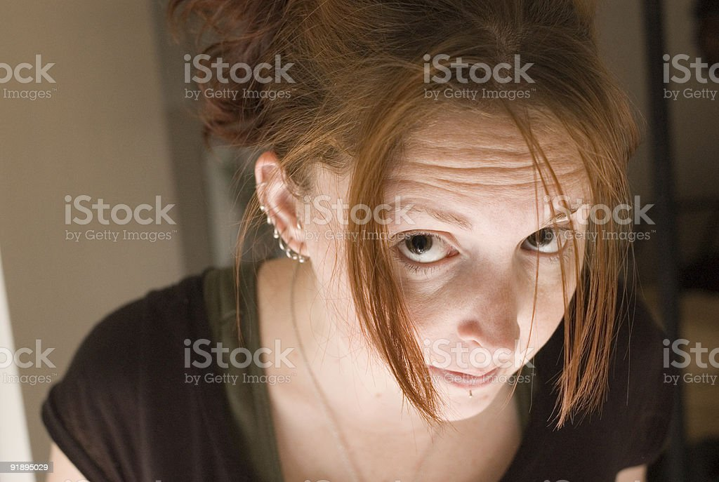 Uplit Redhead royalty-free stock photo