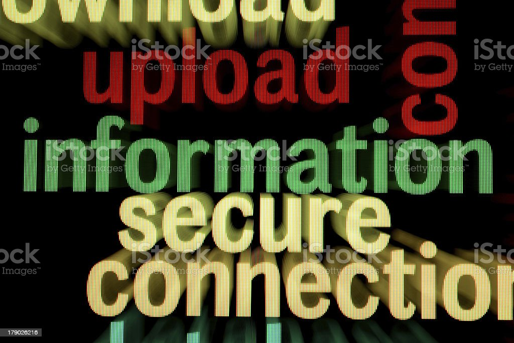 Upload information secure royalty-free stock photo