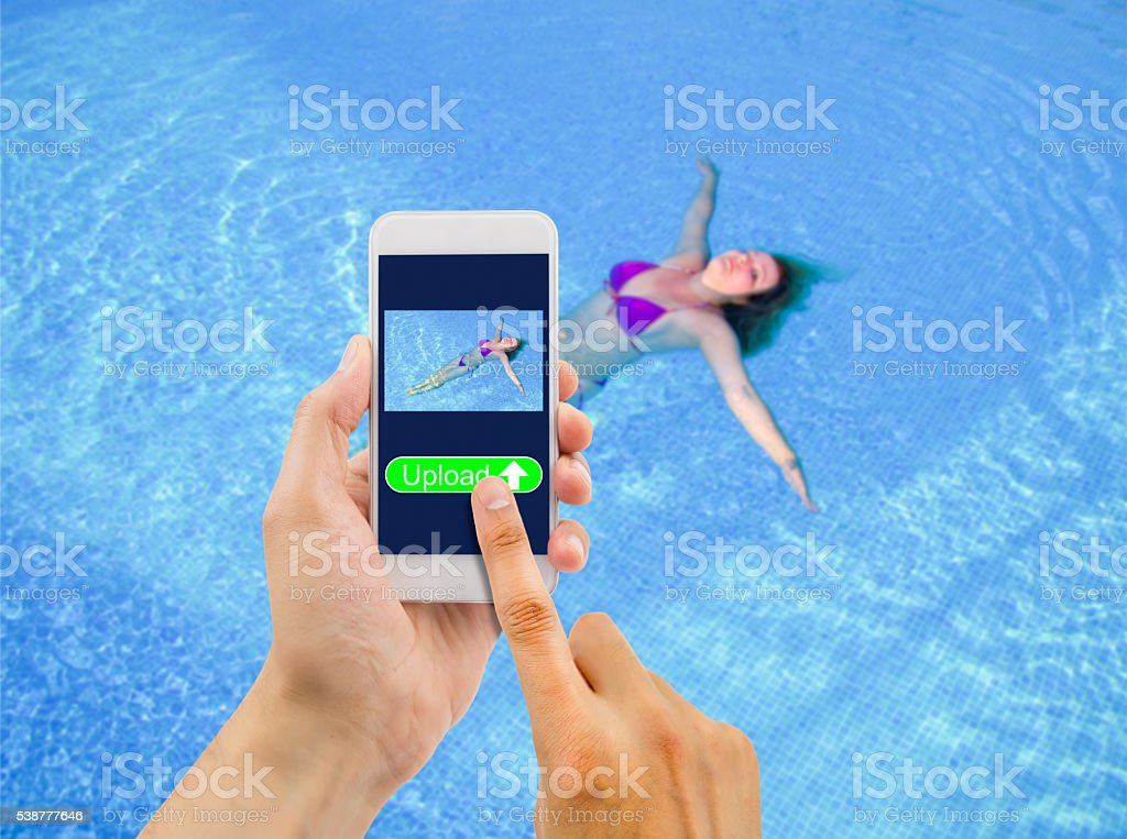 upload picture of women in bikini stock photo