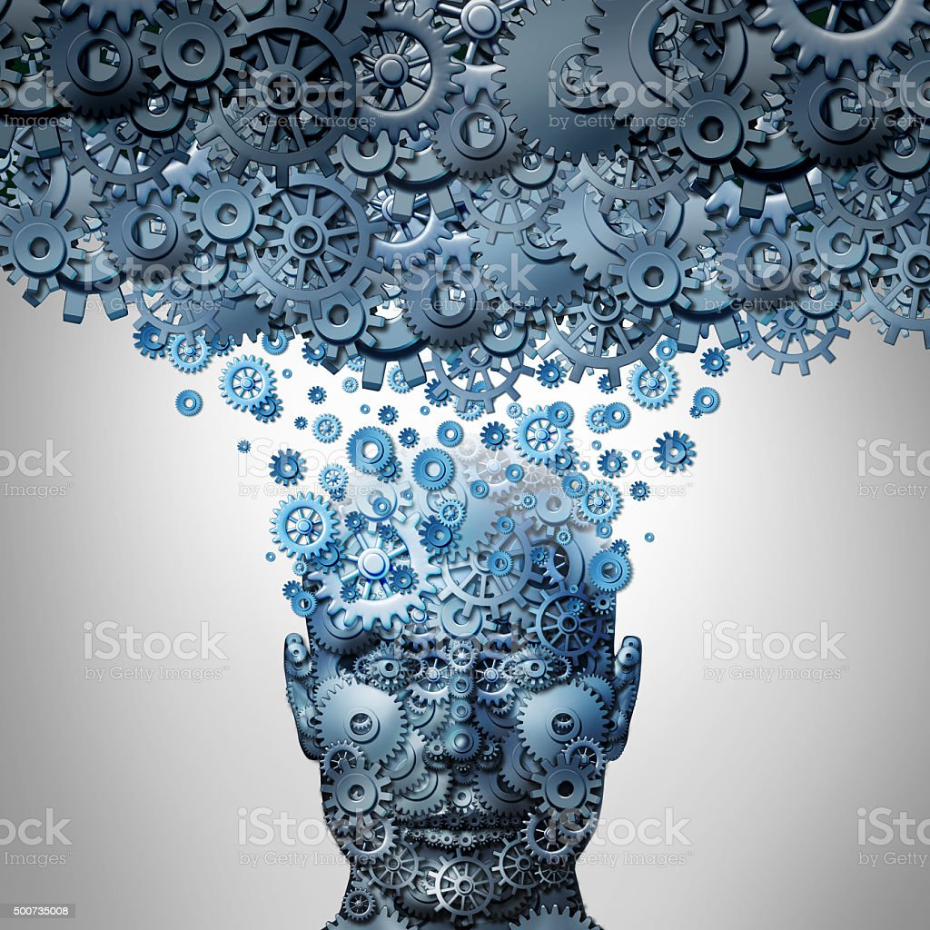 Upload Your Mind stock photo