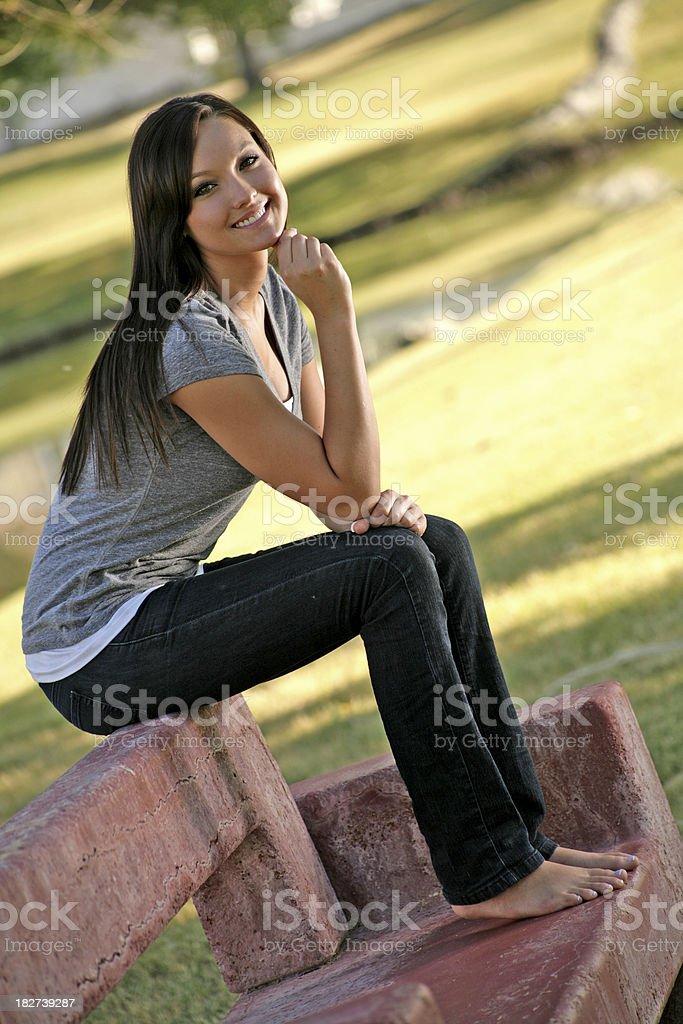 На парк скамья стоковое фото