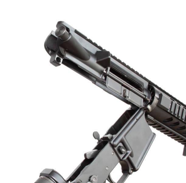 AR-15 oben und unten auseinander – Foto