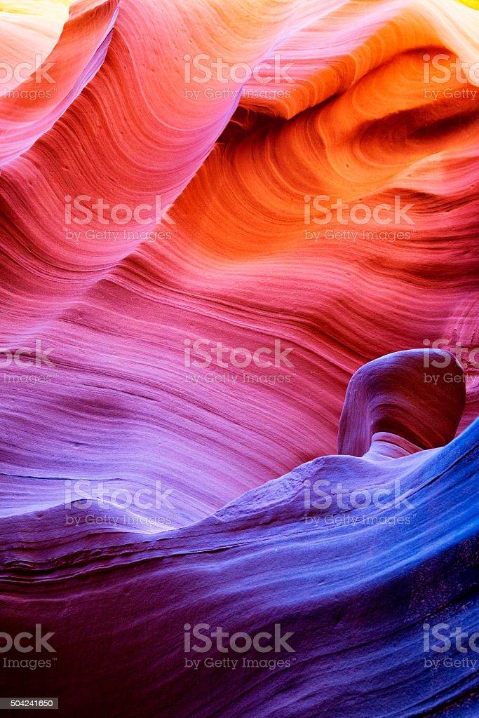 Upper Antelope Canyon in Arizona, USA royalty-free stock photo