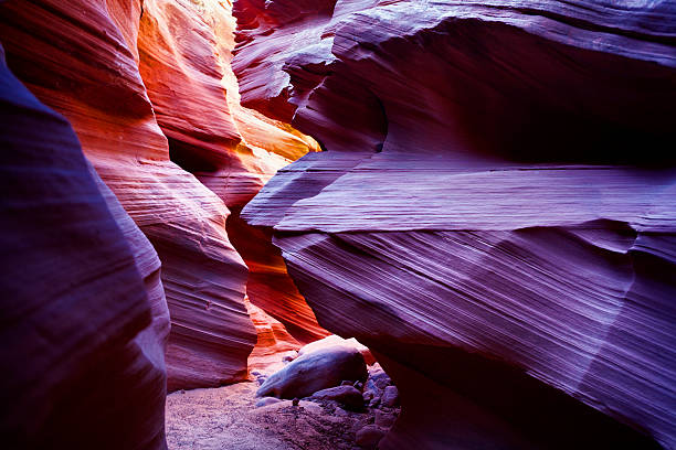 upper antelope canyon in arizona, usa - upper antelope canyon stock photos and pictures