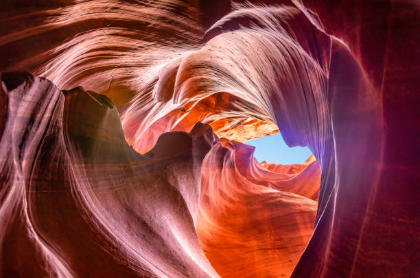 upper antelope canyon - höhle stock-fotos und bilder