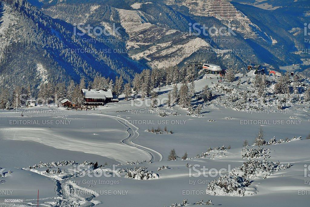 Upper Austria, Phyrn-Priel region, Ski ressort Hinterstoder Höss stock photo