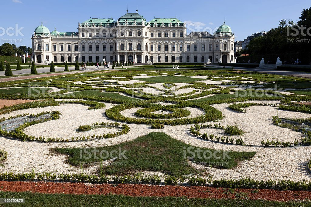 Upper Belvedere Palace stock photo