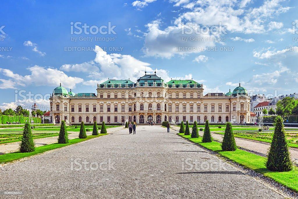 Upper Belvedere. Vienna stock photo