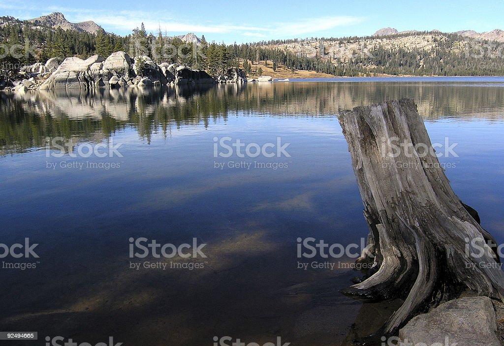 Upper Blue Lake, CA royalty-free stock photo