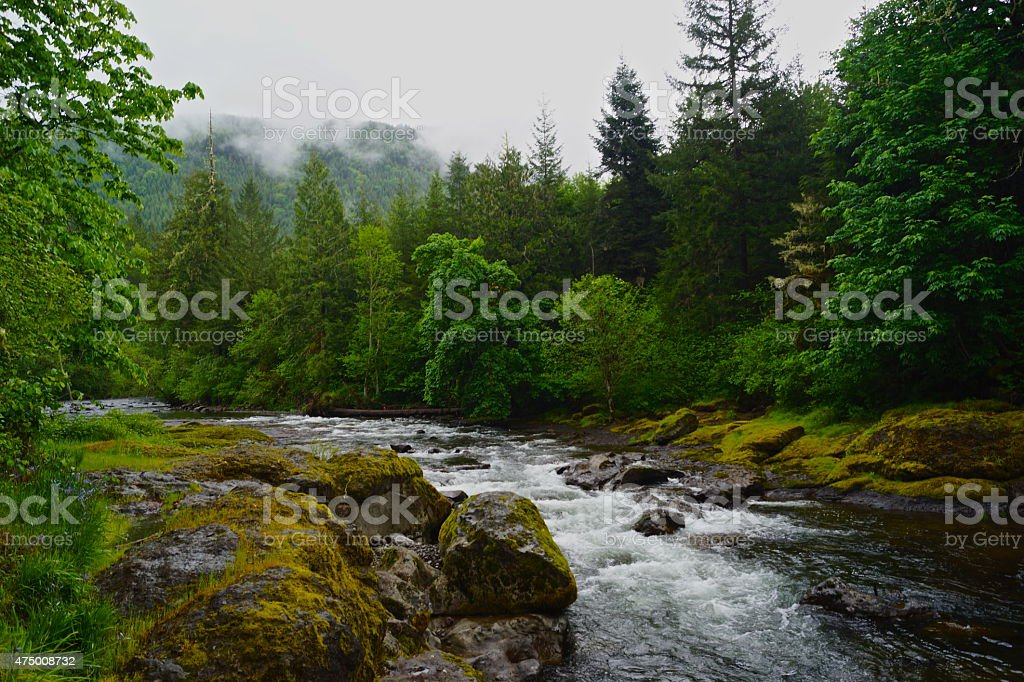 Upper Calapooia River Ridge stock photo