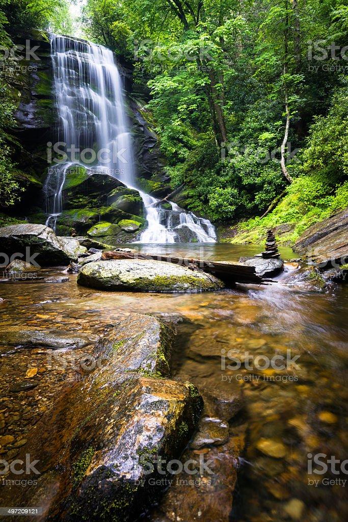 Upper Catabwa Falls 5 stock photo