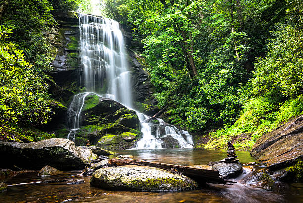 upper catabwa falls - waterfall stock photos and pictures