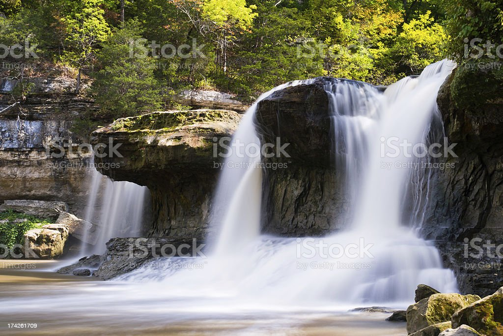 Upper Cataract Falls Sideview royalty-free stock photo