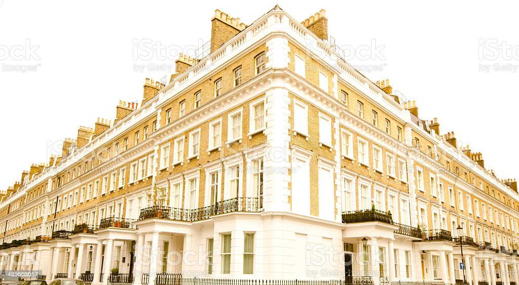 upper class flats in London stock photo