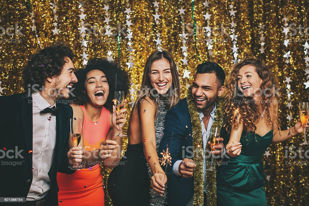 Upper class party stock photo