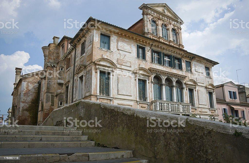 Upper class renaissance palace stock photo