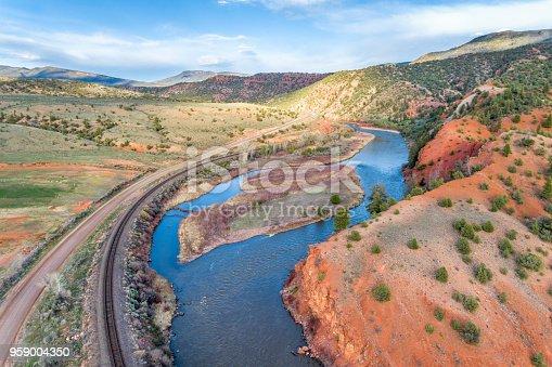 upper Colorado River below McCoy, Colorado - aeiral view