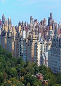 The Upper East Side skyline of New York City overlooking Central Park.