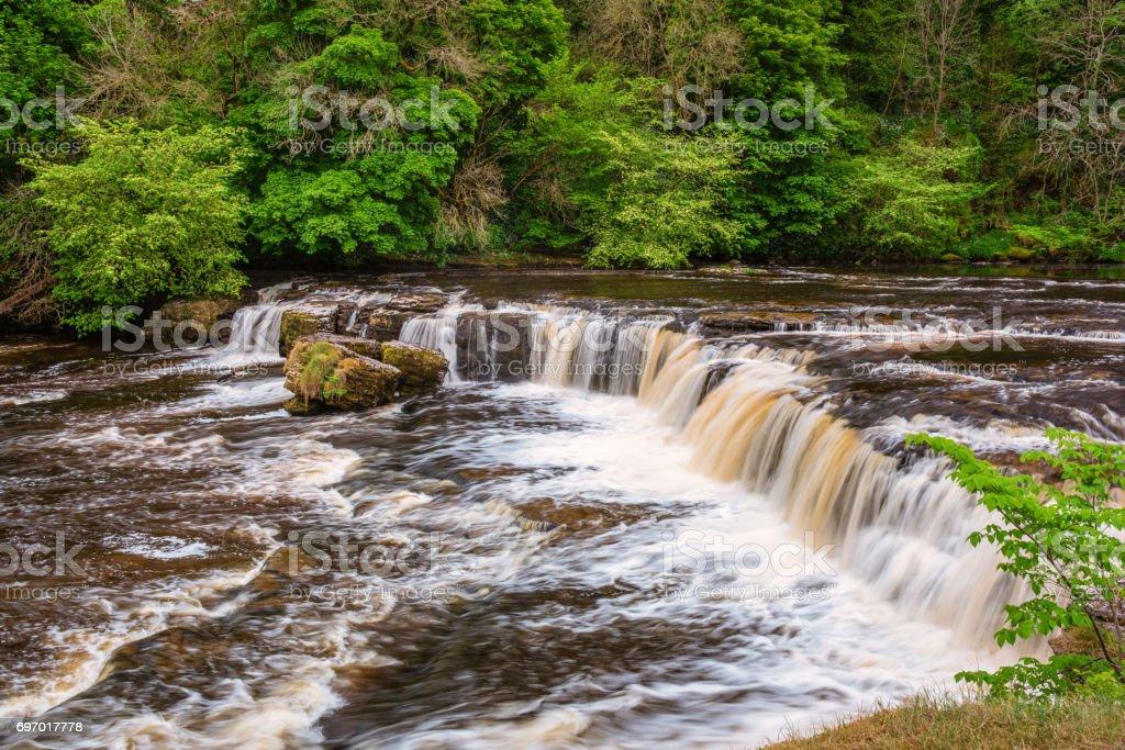 Upper Falls at Aysgarth stock photo
