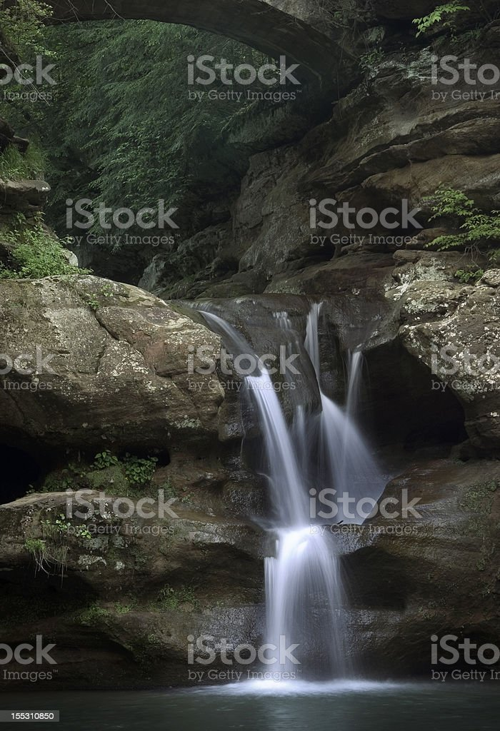 Upper Falls In Hocking Hills State Park stock photo