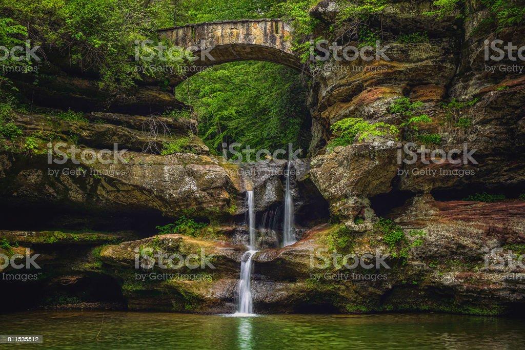 Upper Falls (Explored) stock photo