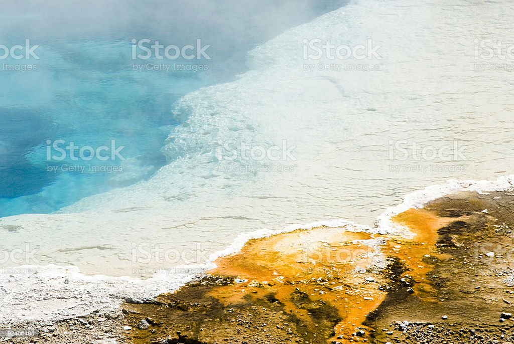 upper geyser basin stock photo