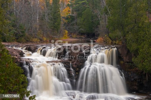 Third of 4 waterfalls at Gooseberry State Park near the north shore of Lake Superior