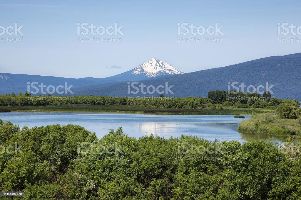 Upper Klamath National Wildlife Refuge stock photo
