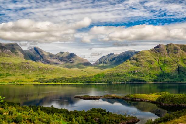 Upper Loch Torridon In Scotland's Northwest Highlands Upper Loch Torridon In Scotland's Northwest Highlands scottish highlands stock pictures, royalty-free photos & images