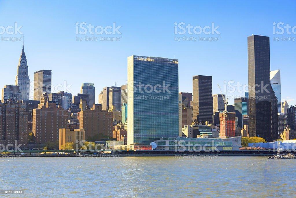 Upper Midtown Manhattan royalty-free stock photo