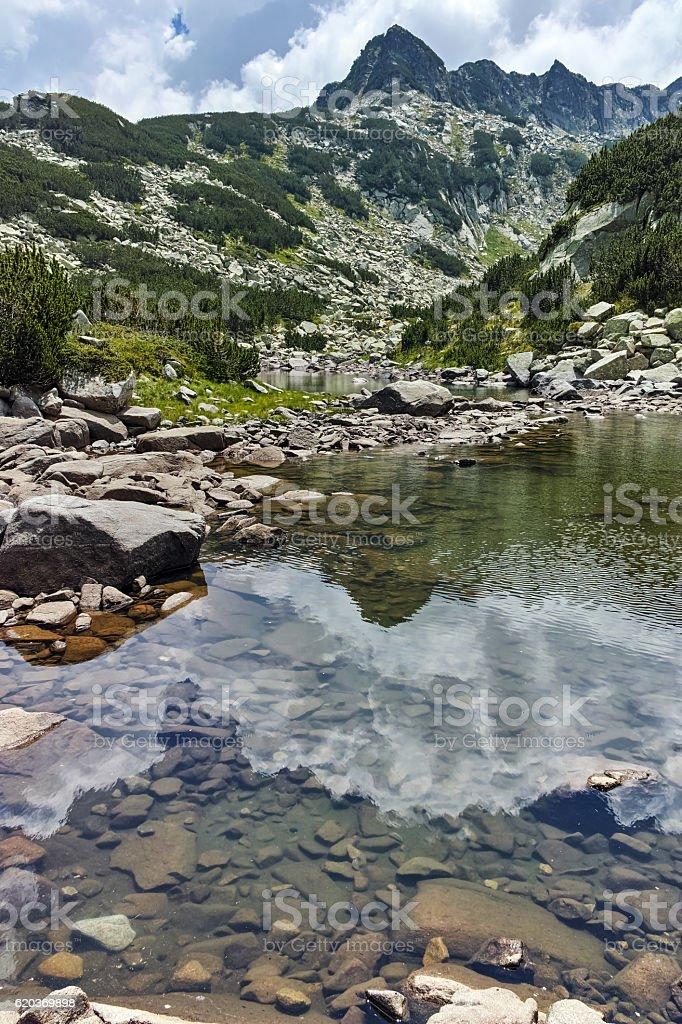 Upper  Muratovo lake, Pirin Mountain foto de stock royalty-free