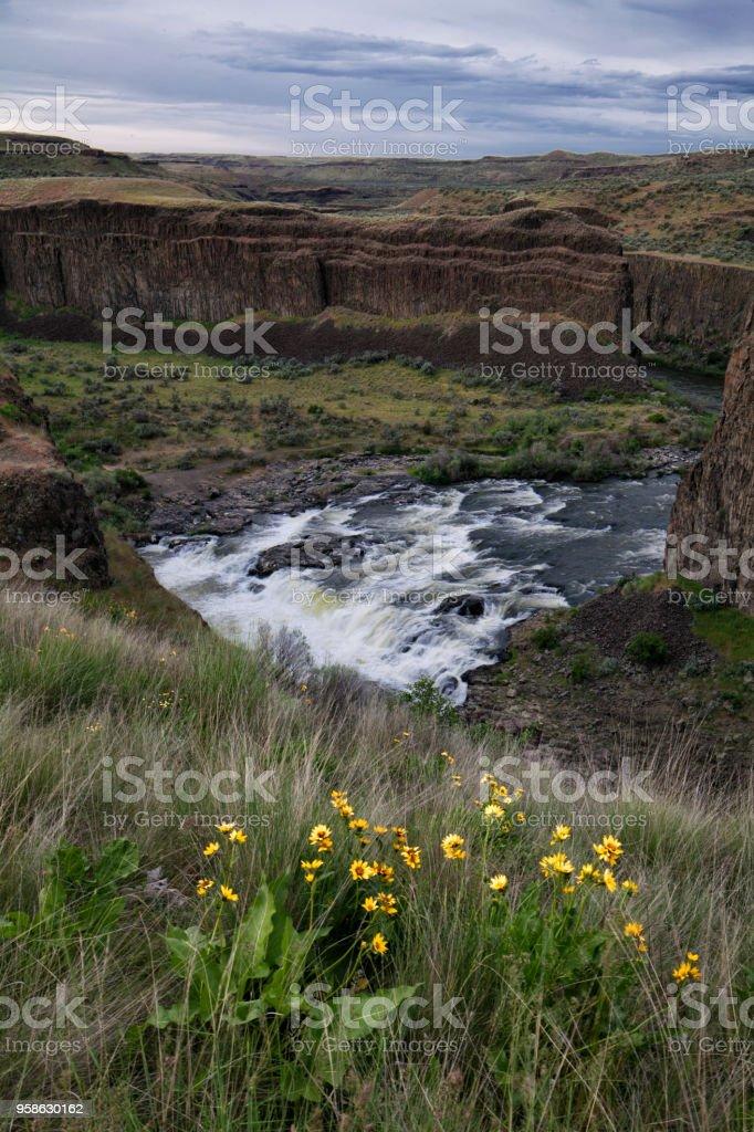 Upper Palouse Falls, WA, USA stock photo