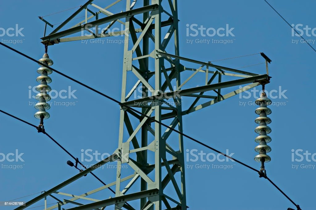 Upper Part Of Electric Power Transmission Line Central Balkan ...
