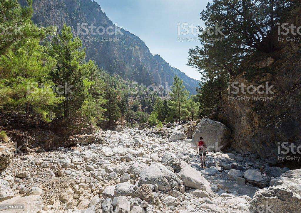 Upper part of Samaria Gorge, Crete stock photo