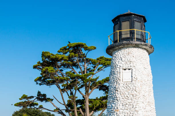 Upper Portion of Buckroe Beach Lighthouse stock photo