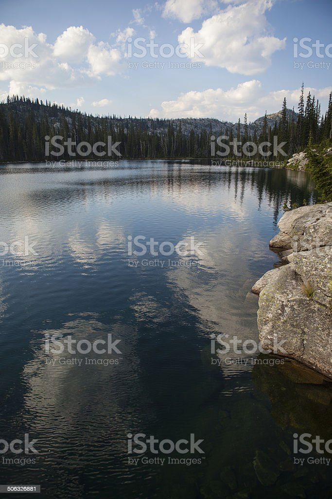 Upper Roman Nose Lake in the Selkirk Mountains stock photo