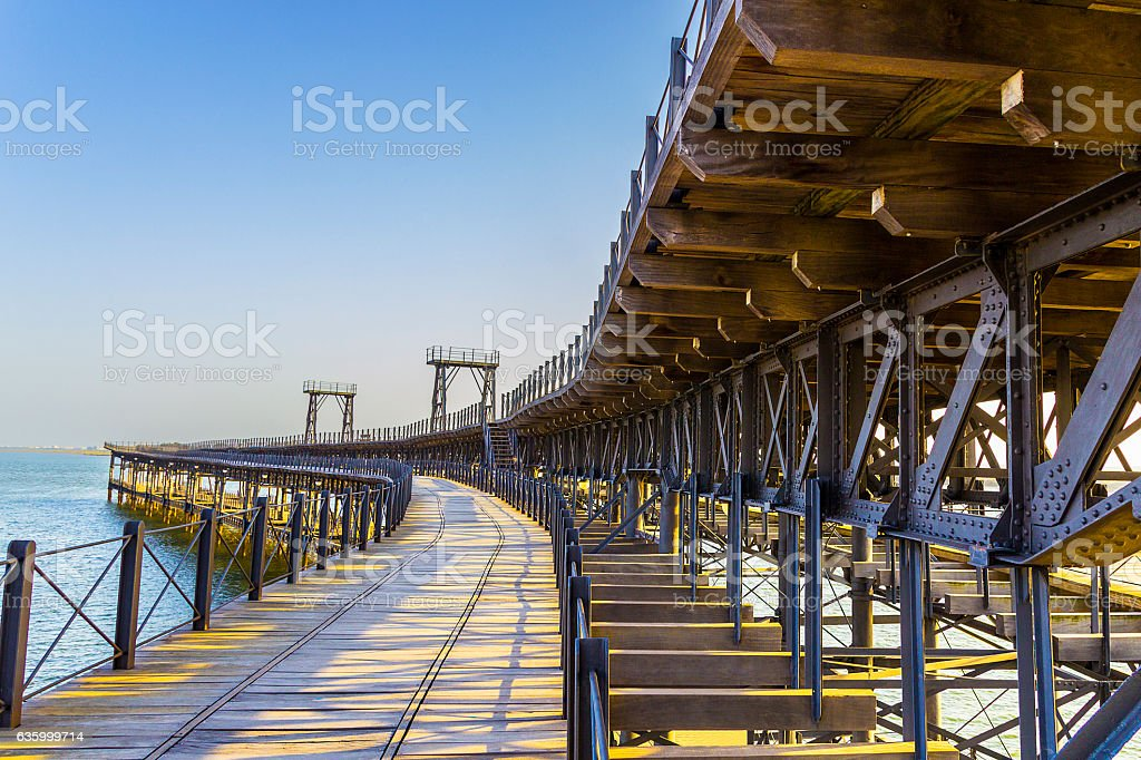 Upper side of  'Muelle del Tinto', tinto dock stock photo