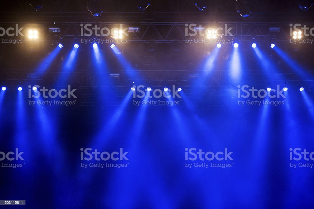 Upper Stage lights stock photo