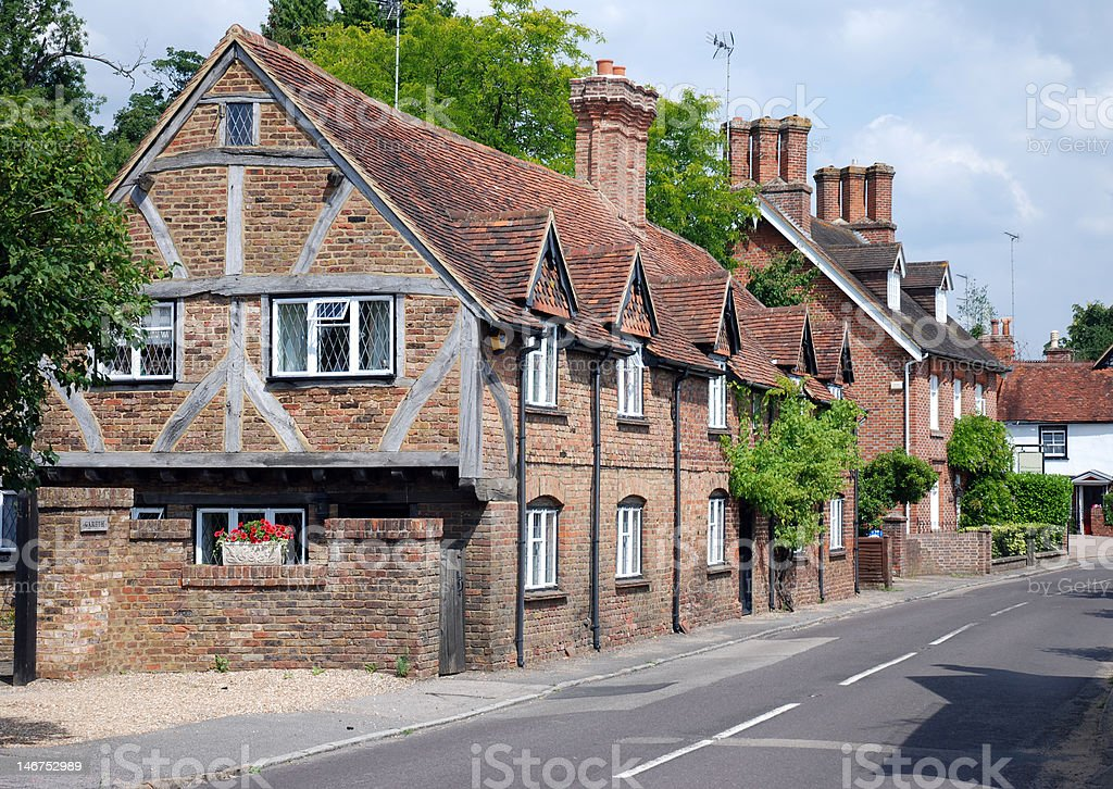 Upper Street, Shere, Surrey stock photo