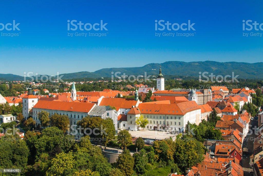 Upper town in Zagreb, capital of Croatia stock photo