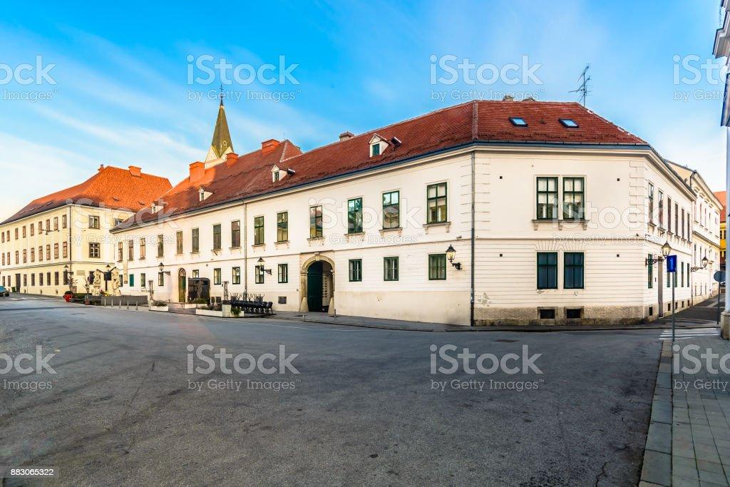 Upper town Zagreb square. stock photo