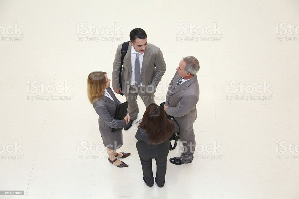 Upper view of business people royalty-free stock photo