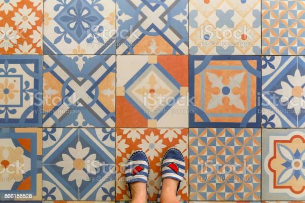 Upper view of summer shoes and decorative retro porcelain tile picture id866155528?b=1&k=6&m=866155528&s=612x612&h=tthpj syymr6gcsxgh0s ysn6qbe8tsmlva9tw6l kc=