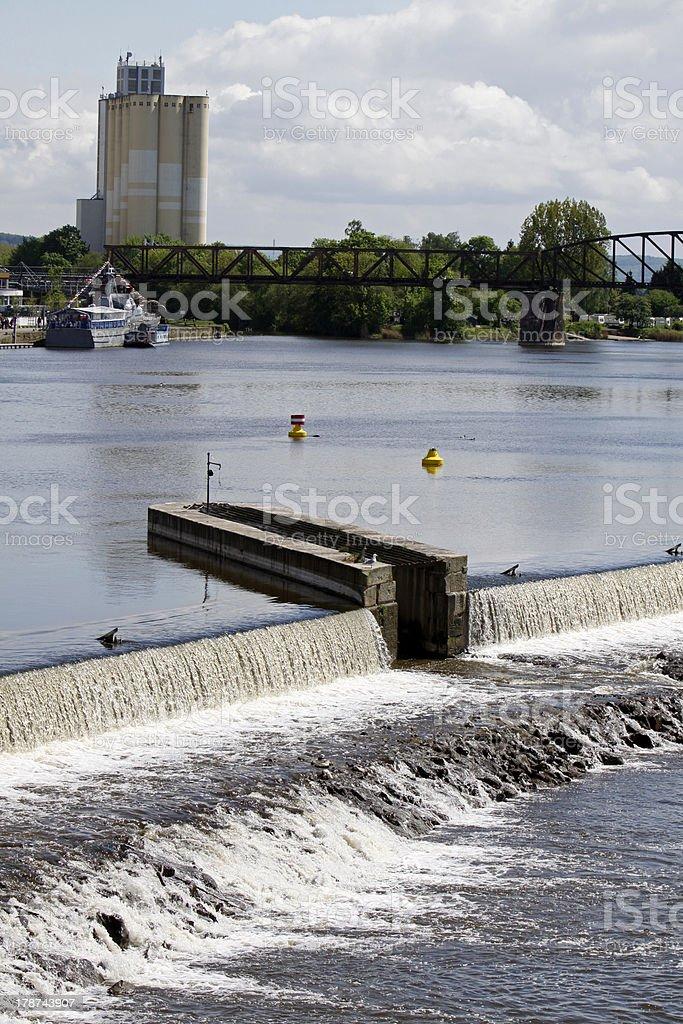 Upper Weser defense in Hameln stock photo