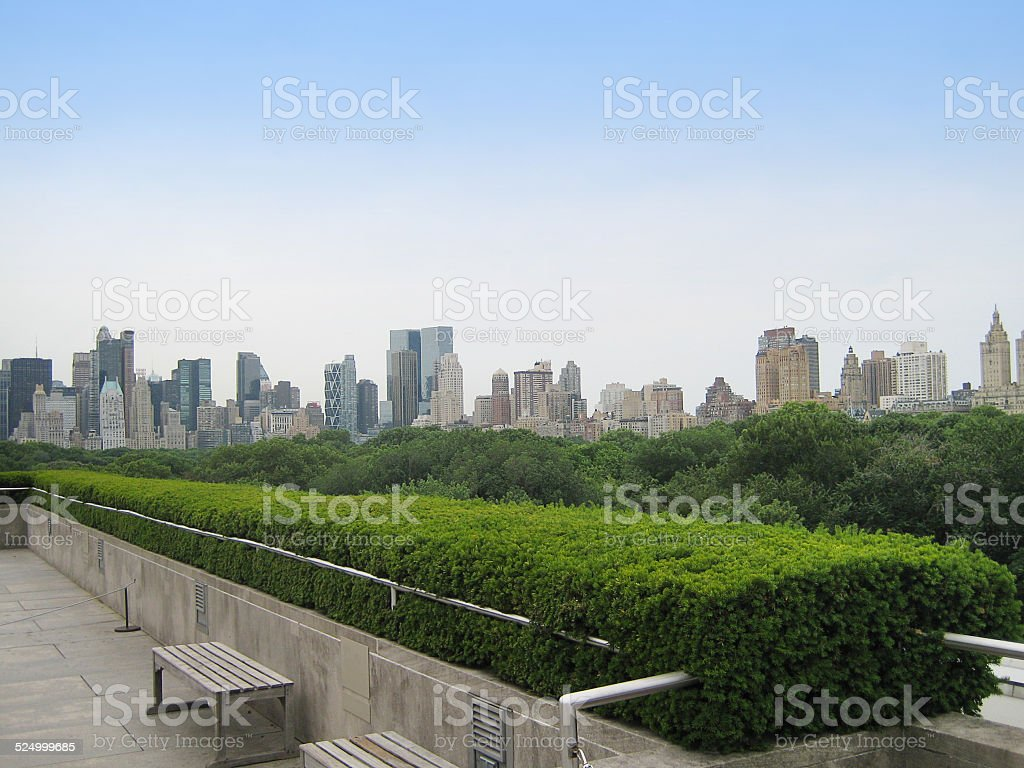 Upper West Side Seen From East Central Park stock photo