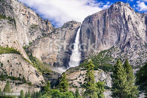 istock Upper Yosemite Falls as seen from Yosemite Valley, Yosemite National Park, California 1164436266