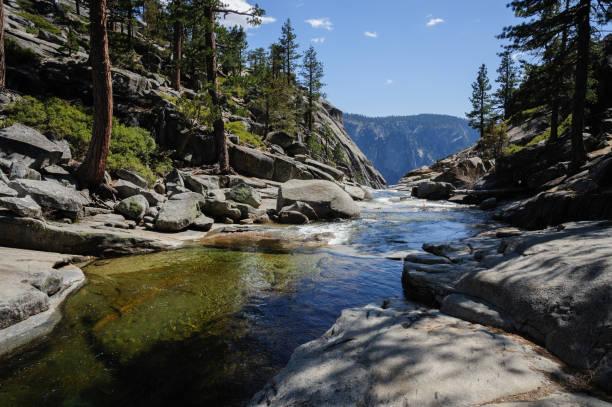 Upper Yosemite Falls: der Fluss kurz vor stürzen ab... – Foto