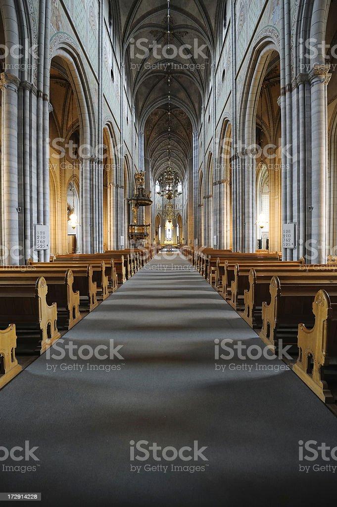 Uppsala cathedral royalty-free stock photo