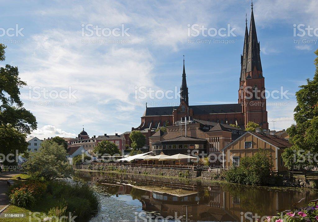 Uppsala Cathedral stock photo