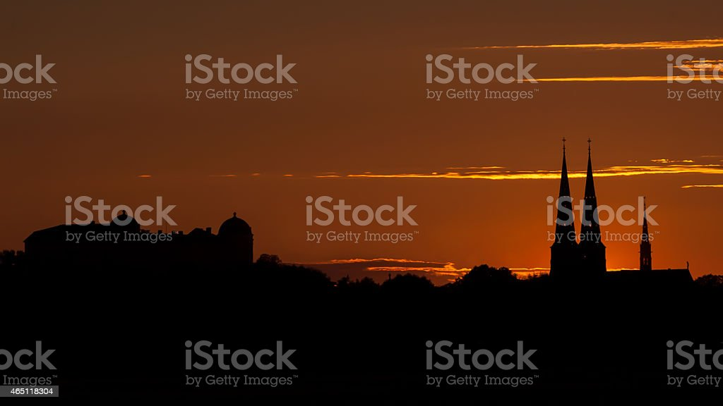 Uppsala Skyline stock photo
